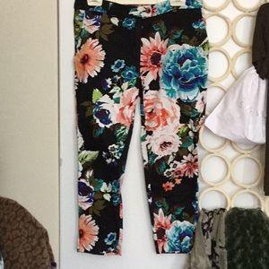BNWOT floral pants